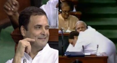 Rahul Gandhi's hug