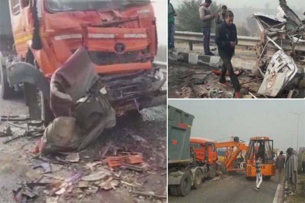 धुंध के कहर से नेशनल हाईवे पर टकराए वाहन 20 की मौत