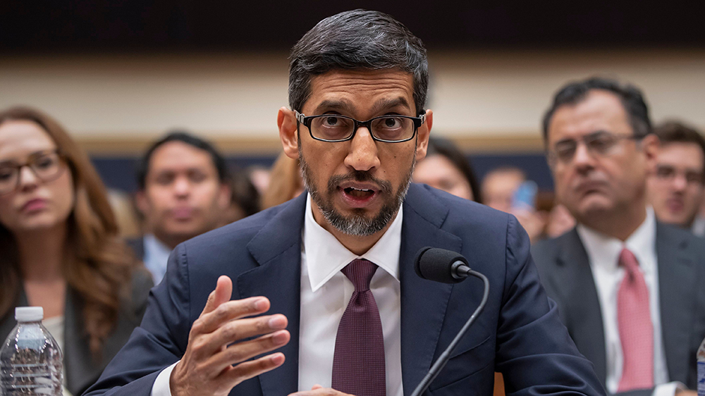 Google Chief Executive Sundar Pichai called in front of the Lawmakers